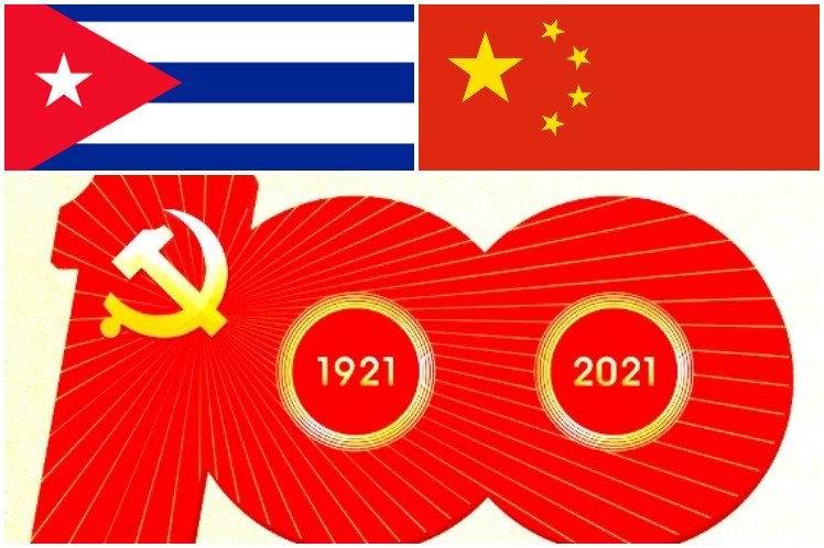 Felicita Díaz-Canel al Partido Comunista Chino por su centenario