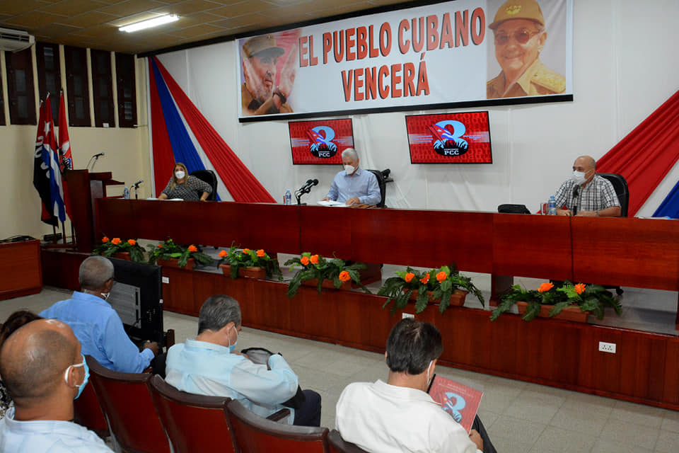Preside Díaz-Canel en Sancti Spíritus examen sobre temas del 8vo. Congreso del PCC