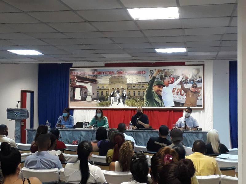 Lissette González Almésigas es la  primera secretaria de la UJC en Isla de la Juventud