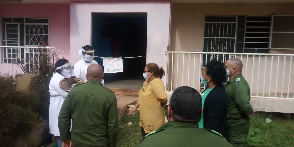 Recorre Secretaria General de la FMC áreas en cuarentena por COVID-19 en Artemisa