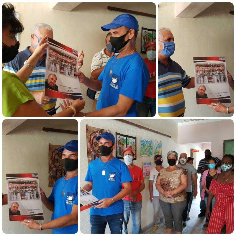 Trabajadores del Sistema de Casas Cultura reconocidos por la ANAP.