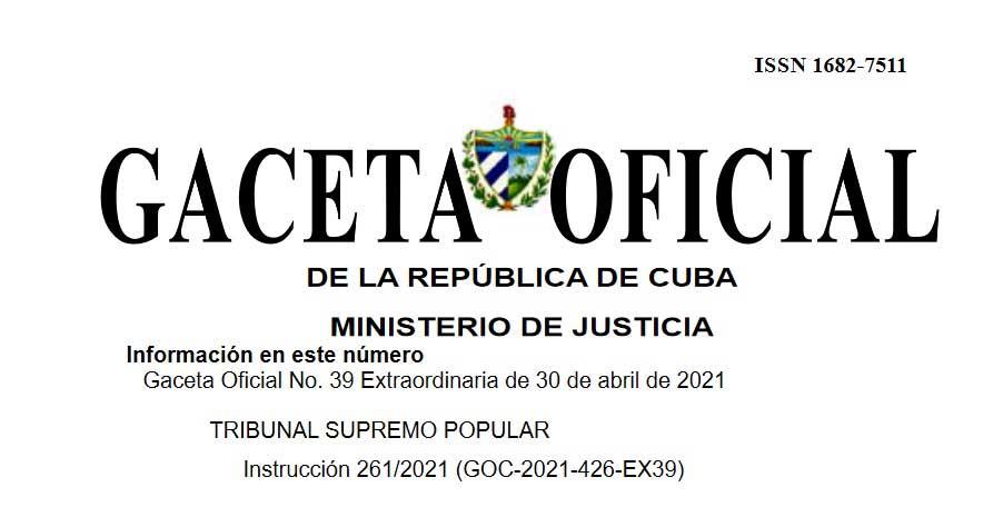 Instrucción del Tribunal Supremo Popular de Cuba facilita los trámites en esas instituciones