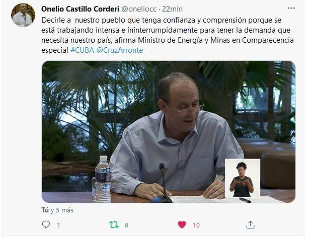 Ministro de Energía y Minas, Liván Arronte Cruz