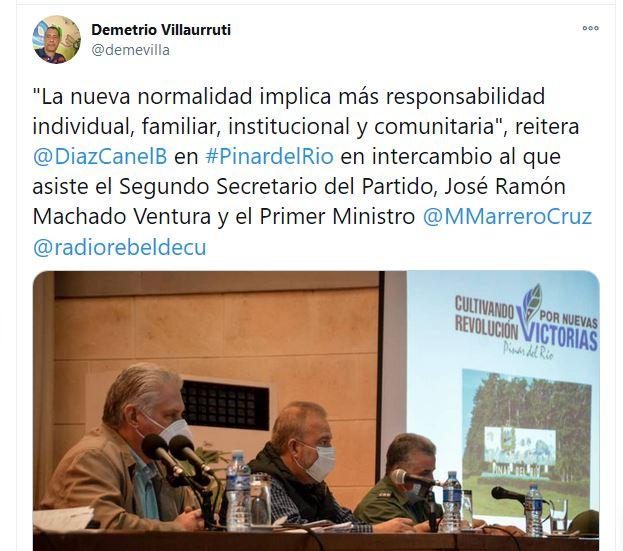Evalúa Miguel Díaz-Canel temas de alta prioridad en Pinar del Río