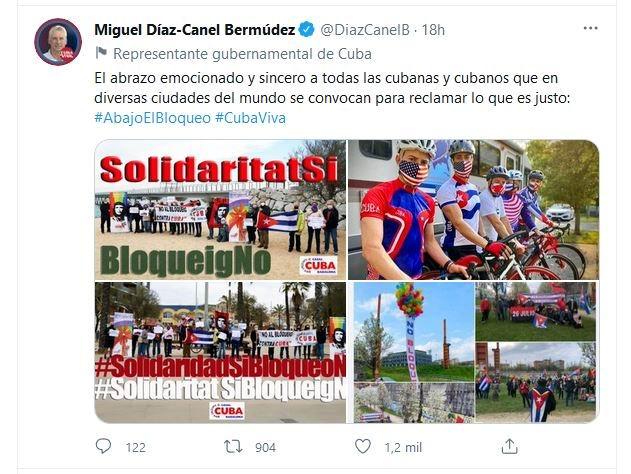 Díaz-Canel califica de emocionante jornada mundial de solidaridad por Cuba