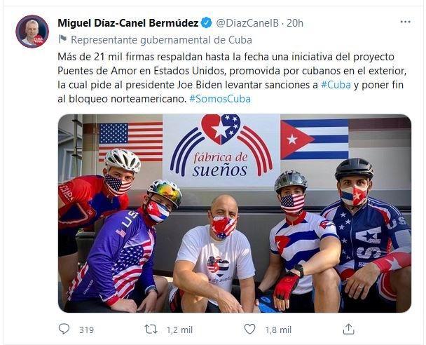 Respalda Díaz-Canel amplia iniciativa para poner fin al bloqueo contra Cuba