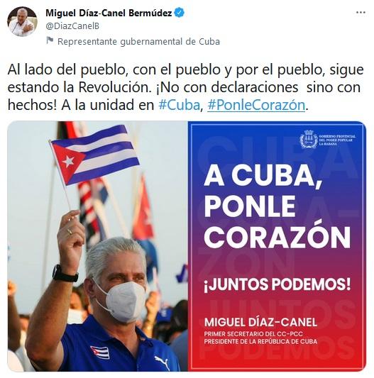 Presidente cubano destaca la unidad del pueblo y la Revolución