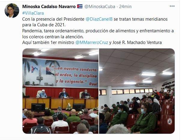 Inició Díaz-Canel encuentro gubernamental en Villa Clara