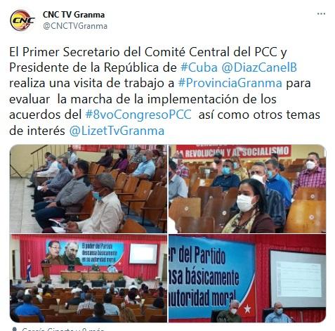 Dirige Díaz-Canel en Granma evaluación sobre directrices de 8vo Congreso del PCC