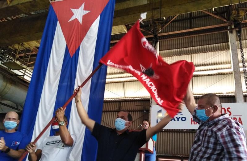 Con la Bandera de Vanguardia Nacional a Estructuras Metálicas inició la Jornada del 1ro de mayo en Las Tunas (+Audio)