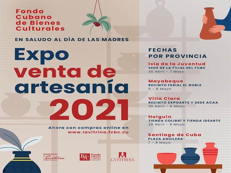 Invita Fondo de Bienes Culturales a feria de artesanías para las madres cubanas
