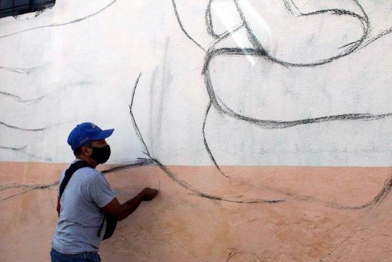 Israel Tamayo, Director del Taller Cultural, Luis Díaz Oduardo. Foto. Sergio Martínez