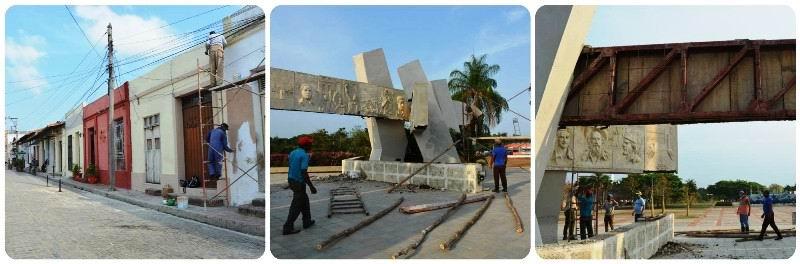 Mantenimiento y restauración Plaza del Carmen y Plaza de la Revolución Camagüey