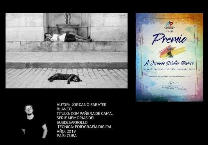 El joven fotógrafo matancero Jordano Sabater Blanco se adueñó del Primer Trofeo en el Salón Internacional del Festival del Caribe