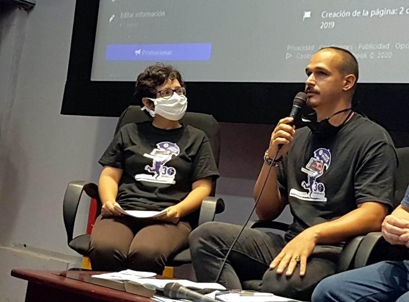 Guionista serie, Yanetsy León y productor general, Ihordan Torres.