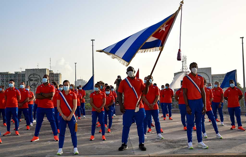 Abanderan a delegación cubana a Juegos OlímpÍcos de Tokio