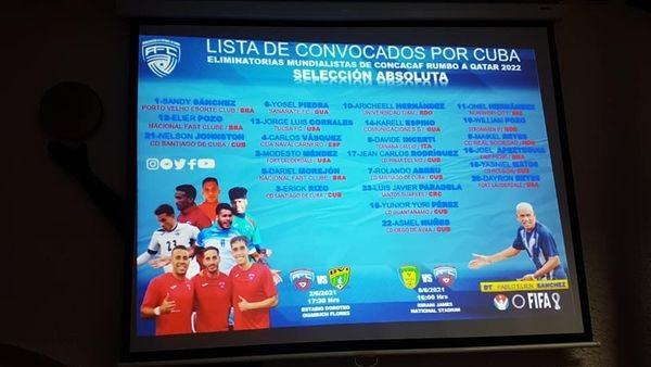 Dan a conocer equipo de fútbol cubano a segunda ronda de eliminatoria mundialista