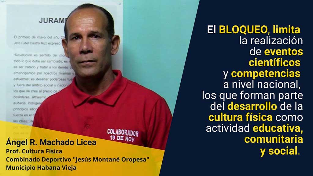 El deporte cubano se pronuncia contra el Bloqueo en evento virtual
