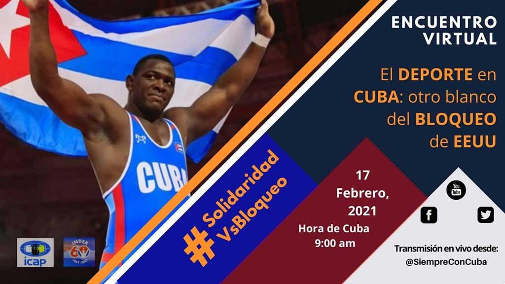 Se pronunciará una vez más el deporte cubano contra el Bloqueo