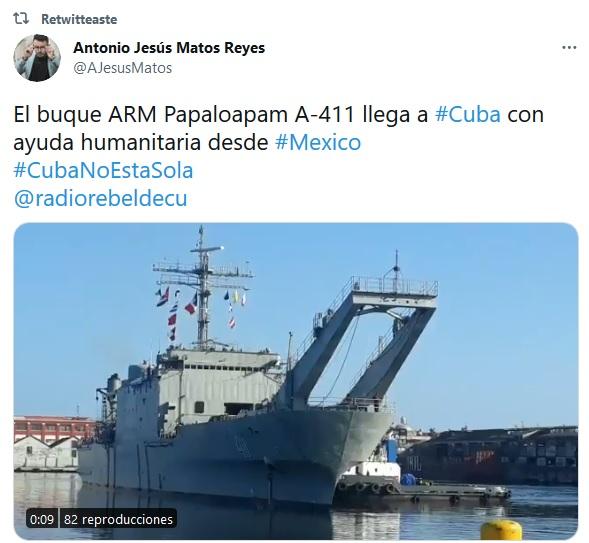 En puerto cubano nuevo gesto de solidaridad desde México