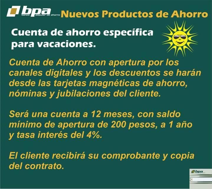 BPA incentiva nuevos productos de ahorro