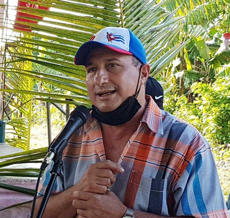 Delegado provincial de la Agricultura Julio Alberto Velázquez.