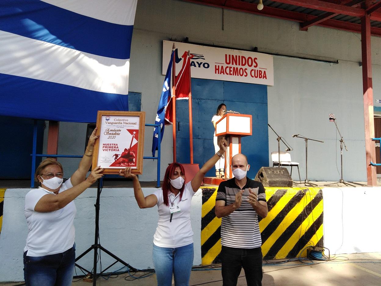 Otorgan la condición de Vanguardia Nacional a trabajadores de ENCOMED en Las Tunas