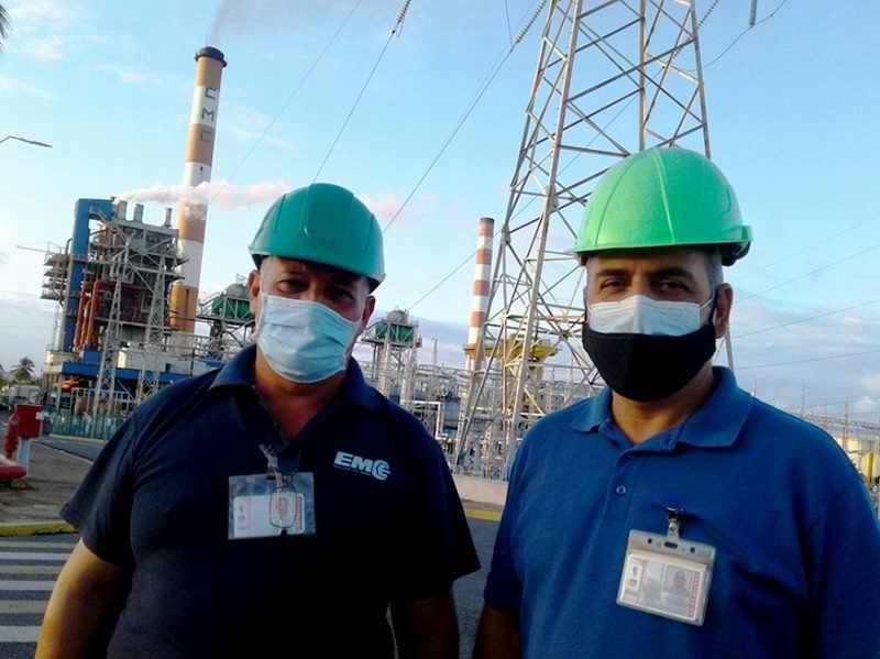 Sincronizada al Sistema Nacional Unidad No. 4 de Termoeléctrica cienfueguera