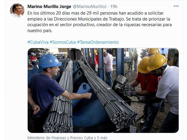 Aumentan cifras de solicitud de empleo en Cuba