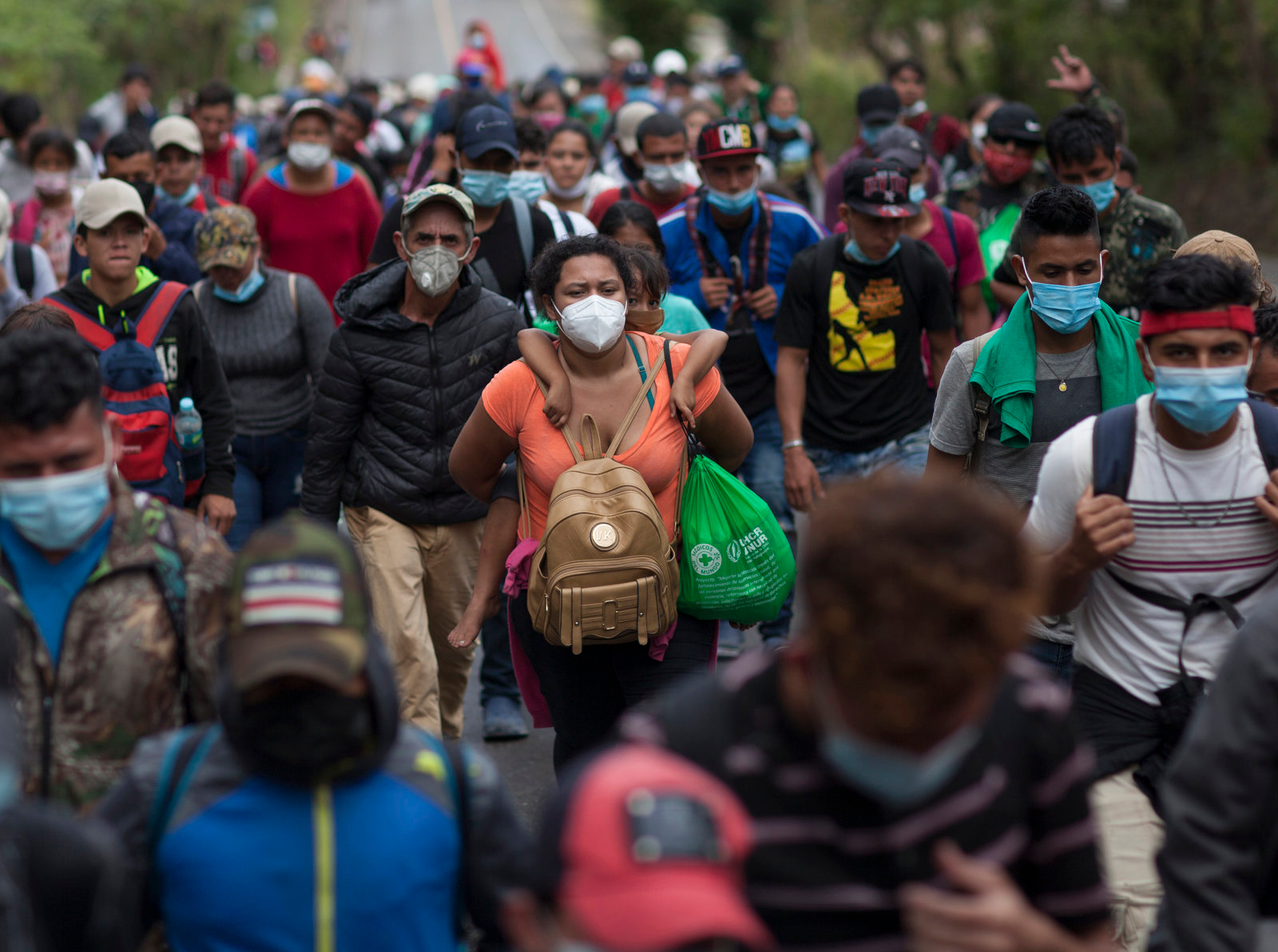 Thousands of migrants continue northward through Guatemala