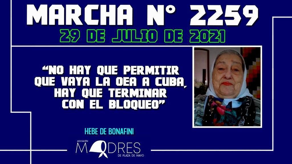 Hebe de Bonafini destaca dignidad de Cuba y pide fin de la OEA (+Video)