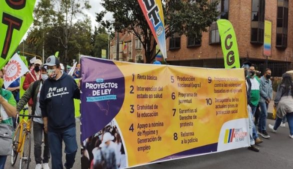 Marches are called in Colombia to file draft legislation