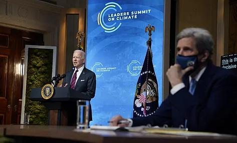 Sesiona cumbre virtual sobre el clima, con la participación de líderes mundiales