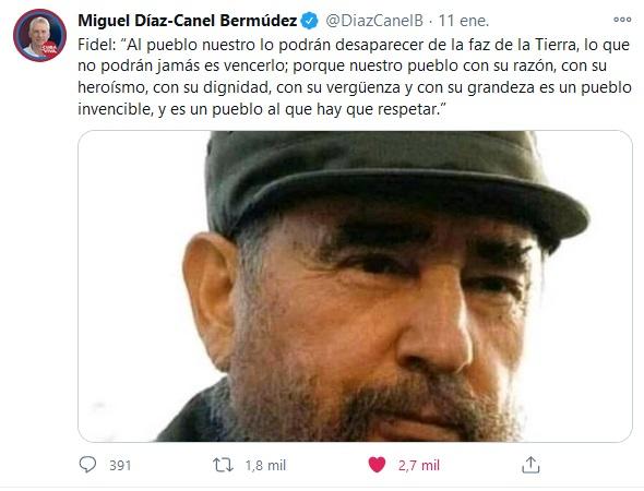 Condena Presidente Díaz-Canel calificación de Cuba como Estado patrocinador del terrorismo