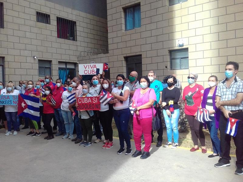 Exigen en Venezuela fin del bloqueo yanqui contra Cuba (+Audio)