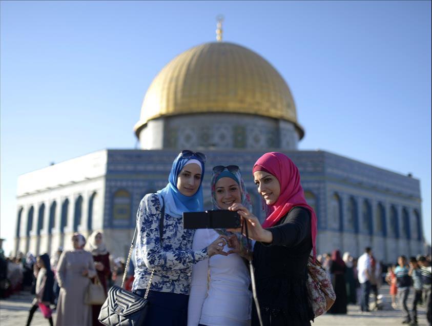 Thousands of Palestinians hold Eid al-Adha prayers in Aqsa after Israeli raids