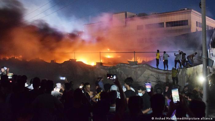 Más de 40 muertos al incendiarse un hospital para la Covid en Irak