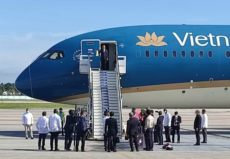 President of Vietnam arrived in Cuba on an official visit