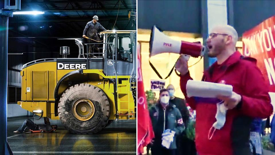 More than 10,000 John Deere workers go on strike in U.S.