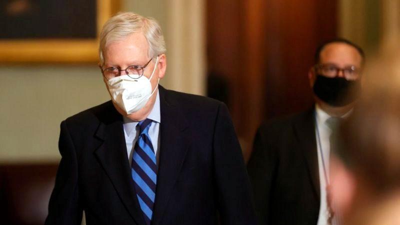 El líder de la mayoría en el Senado, el republicano Mitch McConnell, culpó al presidente Donald Trump por el asalto al Capitolio el pasado 6 de enero