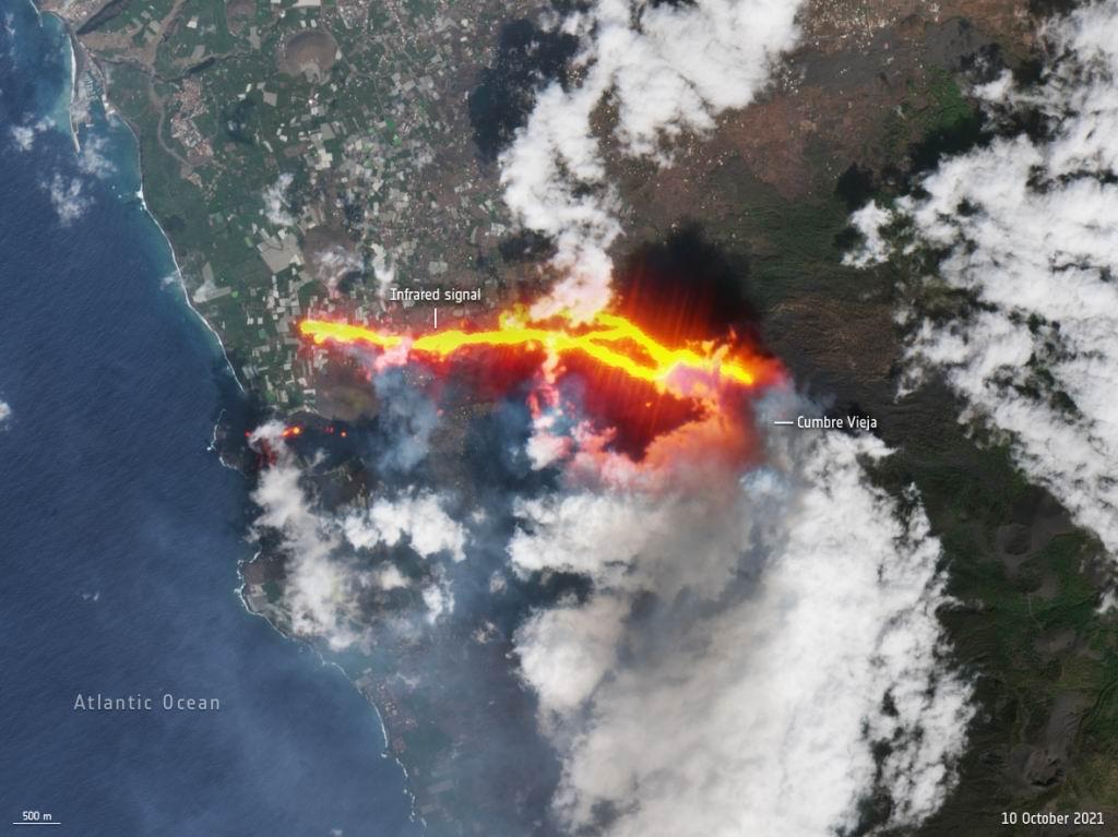 Colapsó el cono del volcán de La Palma y hay nueva evacuación (+Video)