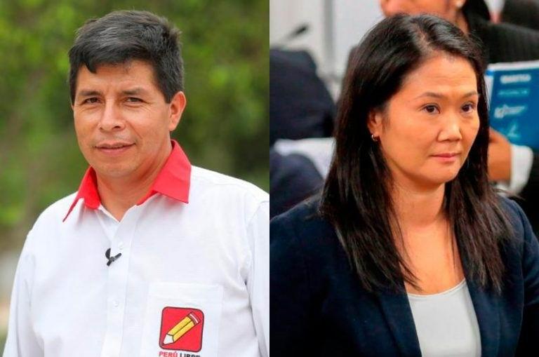 Pedro Castillo y Keiko Fujimori disputarán segunda vuelta electoral en Perú
