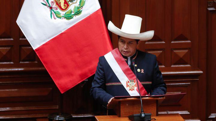 A  200 años de la proclamación de la independencia de Perú, José Pedro Castillo Terrones asumió la presidencia del país andino