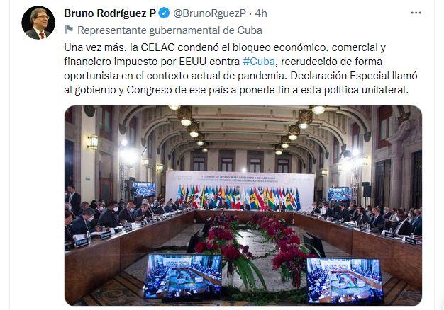Califica canciller cubano como extraordinaria e histórica la visita de Presidente Miguel Díaz-Canel a México (+Audio)