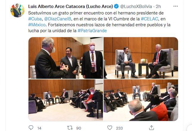 Luis Arce expresó su deseo de continuar trabajando juntos, hay muchas cosas por hacer