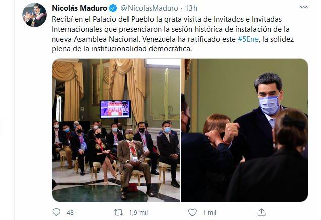 Instalada nueva Asamblea nacional en Venezuela
