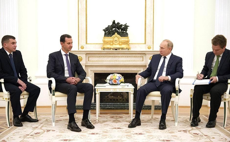 De la cumbre entre los presidentes de Siria y Rusia