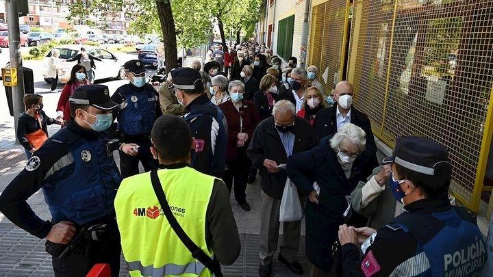 Día de elecciones autonómicas en Madrid. Foto: EFE
