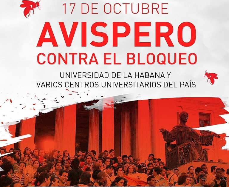 Cuban youth stage massive denunciation of US blockade