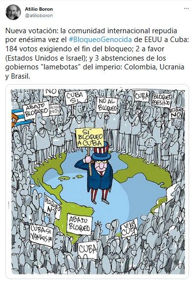 Amplia repercusión de la decisión de la Asamblea General de la ONU en torno al bloqueo contra Cuba